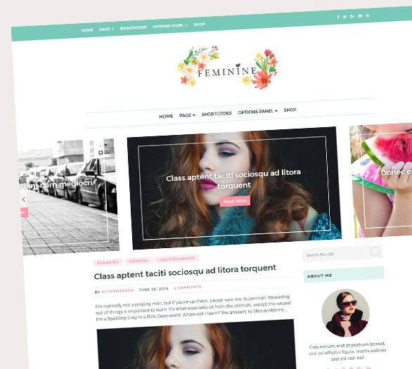 Feminine WordPress theme from MyThemeShop