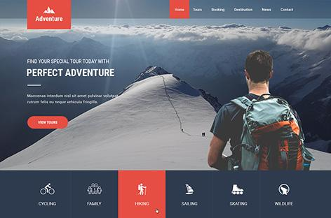 Adventure is a new wordpress theme by SKTthemes