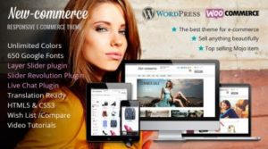 New Commerce WordPress theme by MOJO