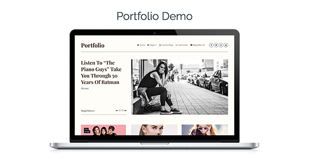 Clean WordPress theme Portfolio Demo
