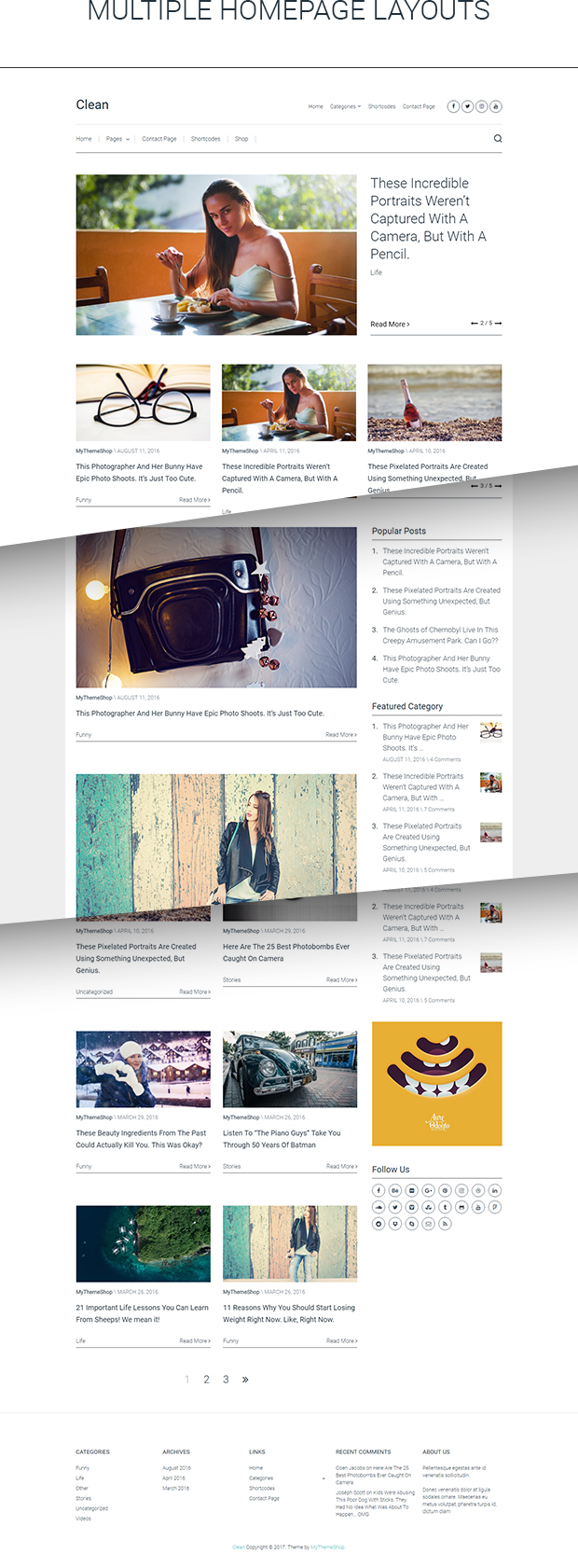 Clean is a new WordPress Theme from MyThemeShop