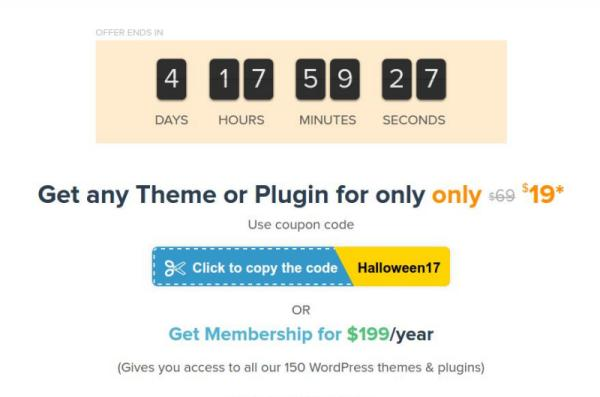 Halloween discounts for all themes and templates for websites-MyThemeShop