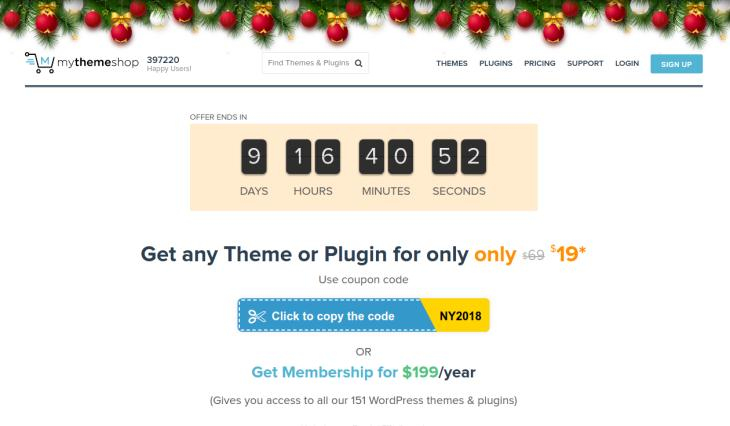 Christmas Offers for Website Themes, Templates & Plugins-MyThemeShop.com