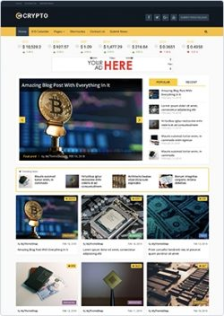 Crypto – Bitcoin & Cryptocurrency WordPress Theme