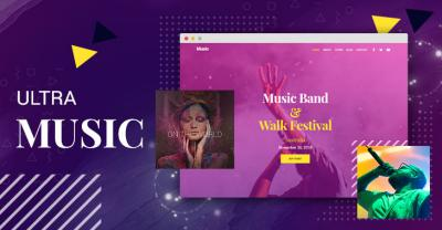 Ultra WordPress theme - New Music Skin for Artists, Bands & Festivals
