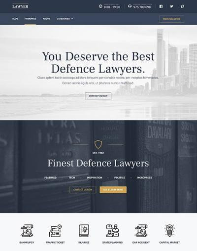 Lawyer - Perfect WordPress Theme for Professionals