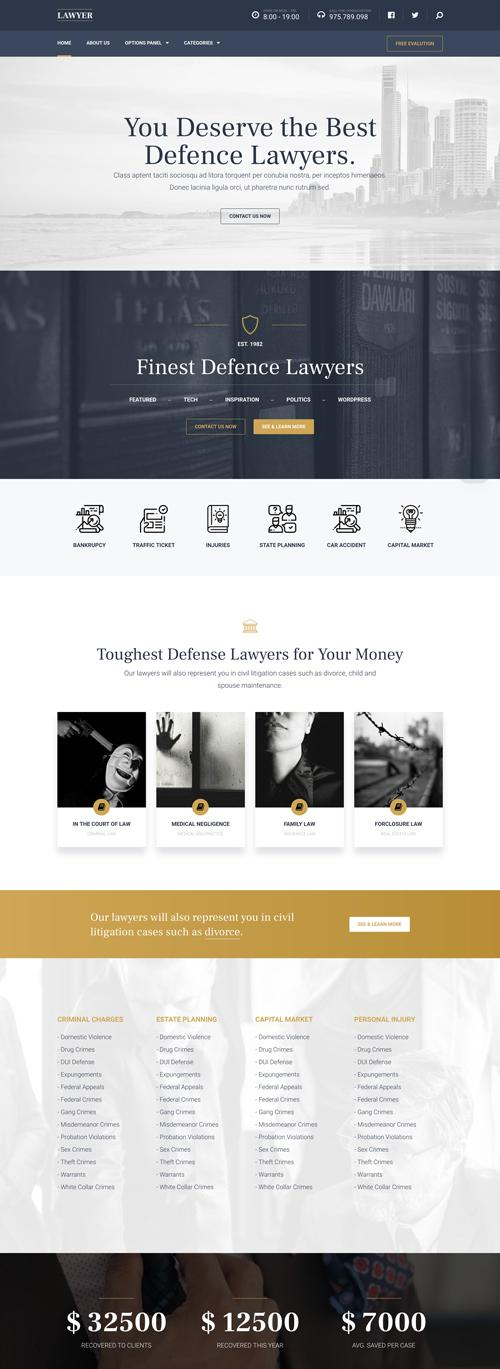Lawyer – Perfect WordPress Theme for Professionals-default