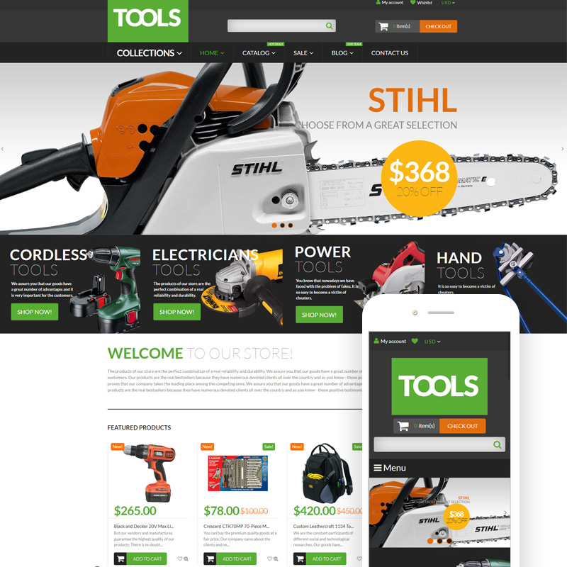 15 Beautiful and Conversion-Friendly Shopify Themes - Tools  Equipment Shopify Theme