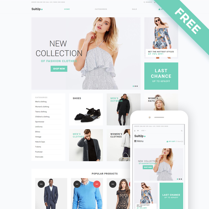 SuitUP – Multipurpose Online Store Shopify Theme
