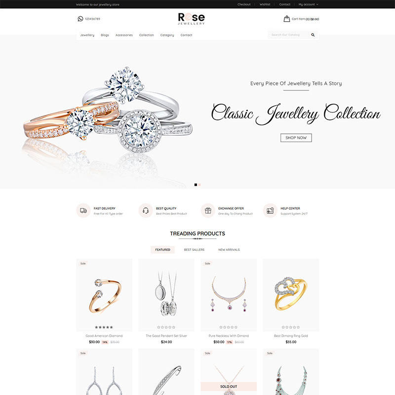 Rose - Jewellery Shopify Theme