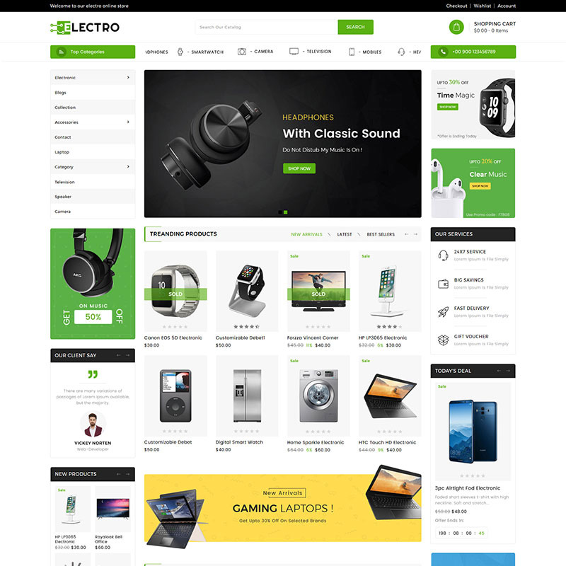 15 Beautiful and Conversion-Friendly Shopify Themes - Electro Electronics Shopify Theme