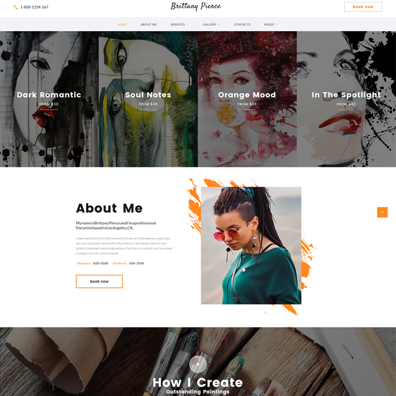Brittany Pierce Multipage HTML5 Template