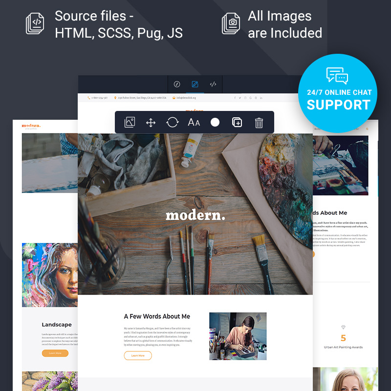 Artist Portfolio Ready-To-Use Multipage HTML5 Template