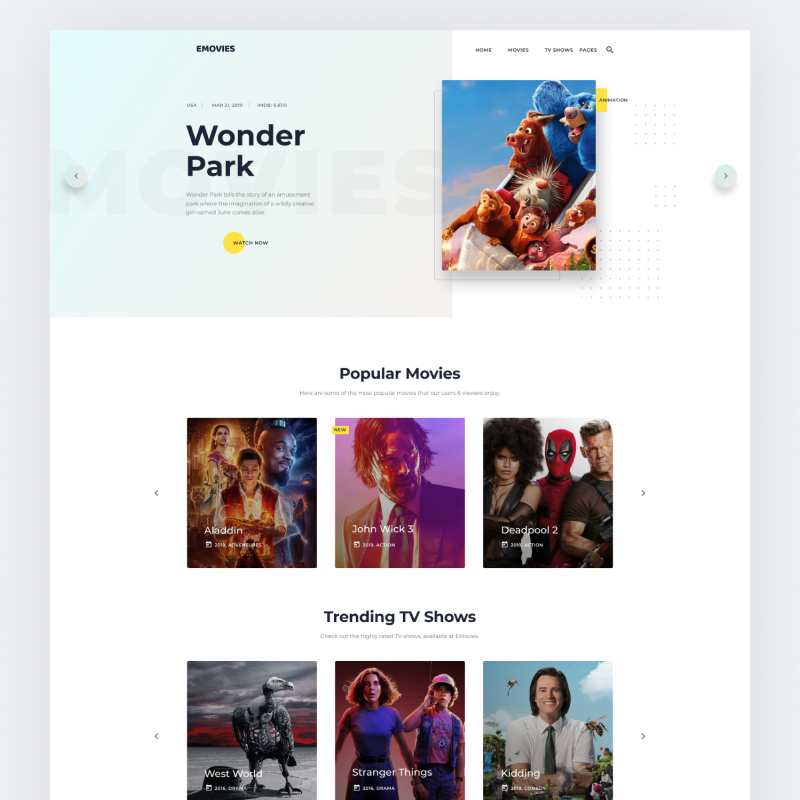10 Ready-to-Use Portfolio Website Templates to Meet Your Creative Vision - EMovies - Movie Streaming Website Template