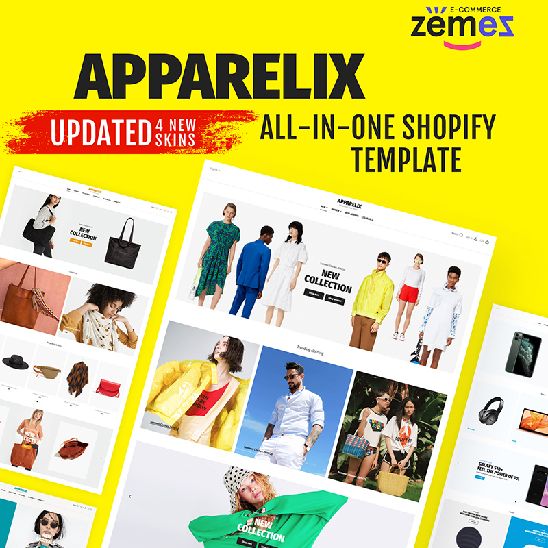 Best 5 Sunglasses Shopify eCommerce Themes - Clean Multipurpose Shopify Theme for Apparel Brand - Apparelix