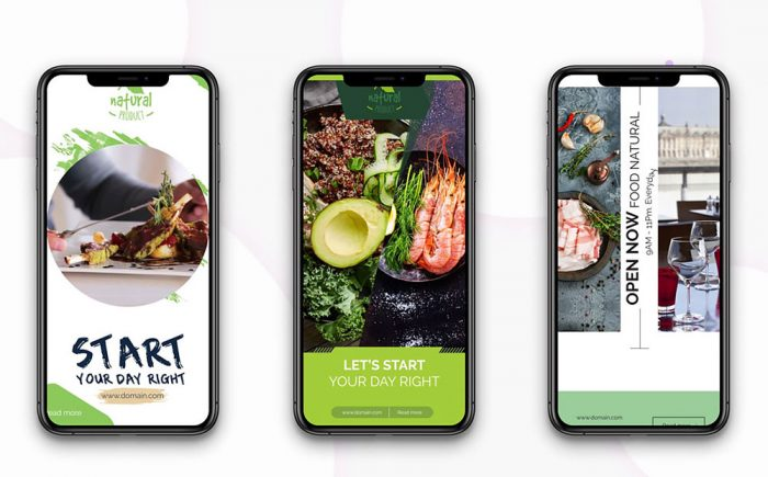 Instagram stories: Healthy Food After Effects Intro