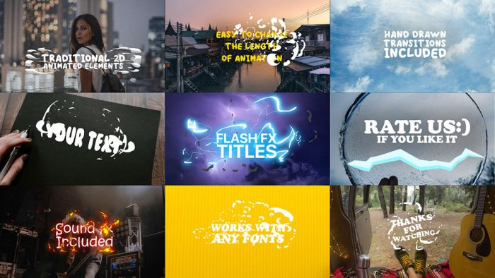 Ways For Designers To Further The Workflow-Flash FX Titles | Text Animation For after Effects Intro