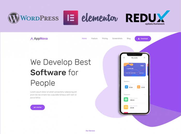 Appnova - App Landing WordPress Theme