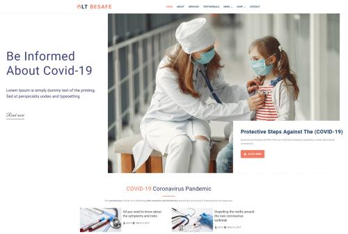 LT BeSafe – Free Medical WordPress theme