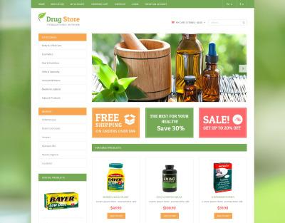 Best Drug store OpenCart Template